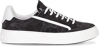 Salvatore Ferragamo Gancini sneaker in dark grey suede