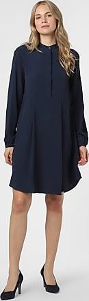 0039 Italy Damen Kleid mit Seiden-Anteil blau