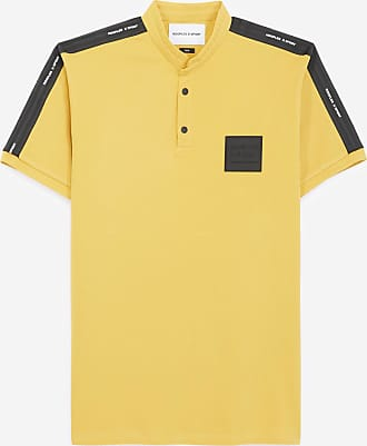 The Kooples Mustard yellow polo w/officer collar & logo - MEN