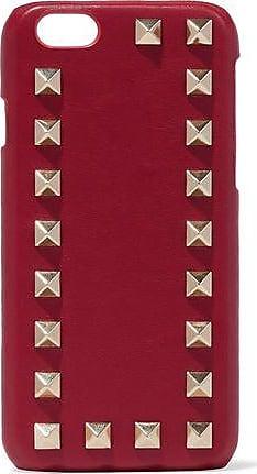 Valentino Valentino Garavani Woman Studded Textured-leather Iphone Case Red Size
