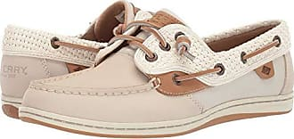 Sperry Top-Sider Sperry Top-Sider Womens Songfish Boat Shoe, Ivory, 9.5 M US