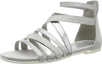 Marco Tozzi Womens 2-2-28116-22 Gladiator Sandals, Grey (Lt.Grey Comb 248), 7.5 UK