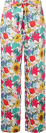 Baum Und Pferdgarten Calça reta de seda floral - Estampado