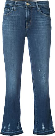 J Brand Calça jeans cropped Selena - Azul