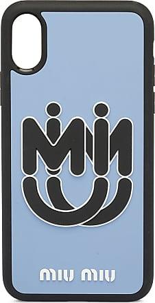 Miu Miu Capa para iPhone X/XS com estampa de logo - Azul