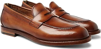 Officine Creative Ivy Polished-leather Penny Loafers - Brown