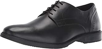 Hush Puppies Mens Advice PT Derby Oxford Black Leather 11.5 M US