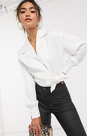 4th & Reckless 4th & Reckless wrap shirt in white