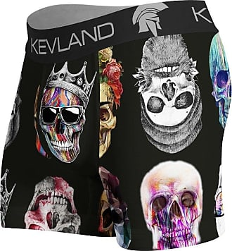 Kevland Underwear CUECA BOXER COLORED SKULLS FUNDO PRETO KEVLAND (1, GG)