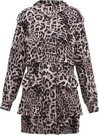 Norma Kamali Hooded Leopard-print Jersey Cargo Jacket - Womens - Grey Print