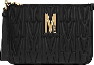 Moschino Pochette - Leather Clutch Fantasia Nero - black - Pochette for ladies