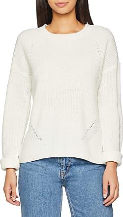Pieces Womens Pcmarie Ls O-Neck Knit Noos Jumper, White (Cloud Dancer), 12 (Size: Medium)