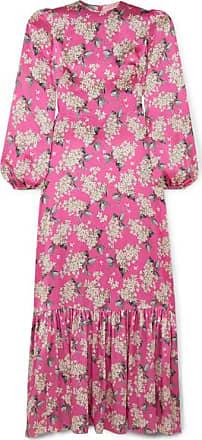 ebc9352088 The Vampires Wife Belle Pleated Floral-print Silk-satin Maxi Dress - Fuchsia