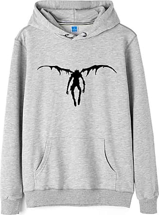 Haililais Death Note Pullover Pullover Sweatshirt Long Sleeve Sweater Outerwear Adult Casual Sports Fashion Wild Warm Men and Women Unisex (Color : Gray06, Size