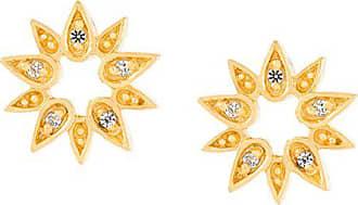 Astley Clarke Brincos de ouro e safira - Metálico