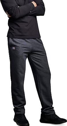 Russell Athletic Mens Cotton Classic Open Bottom Fleece, Sweatpant-Black Heather, Medium
