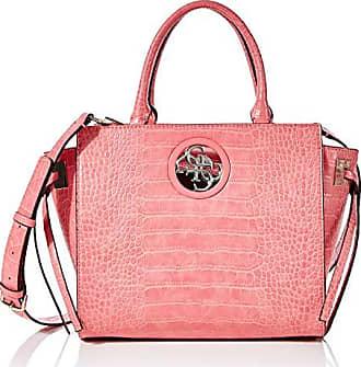 Guess Damen Open Road Society Satchel Umhängetasche, Pink