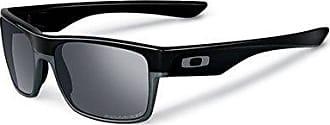 Oakley Mens Twoface (a) Polarized Iridium Rectangular Sunglasses, Polished black, 60.01 mm