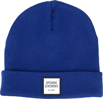 Opening Ceremony logo patch knitted beanie - Blue