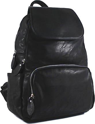 Your Dezire Unisex-Adult Ladies Womens Faux Leather Girls Rucksack Backpack College Uni Gym School Bag UK Black