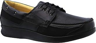 Doctor Shoes Antistaffa Sapato Masculino Diabético em Couro Preto Floater 3057 Doctor Shoes-Preto-43