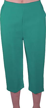 Eyecatch Eye Catch - Florida Ladies Capri Crop Shorts Pants Plus Sizes Womens 3/4 Cropped Trousers Sea Green Size 12