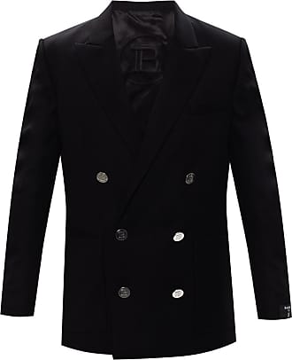 Balmain Blazer With Notch Lapels Mens Black