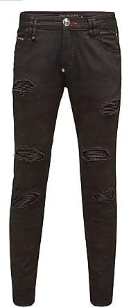 Philipp Plein Super Straight Cut Camou Jeans (31) Black