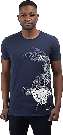 Bang Tidy Clothing Mens Koi Carp Fish 2 T Shirt Navy XXL