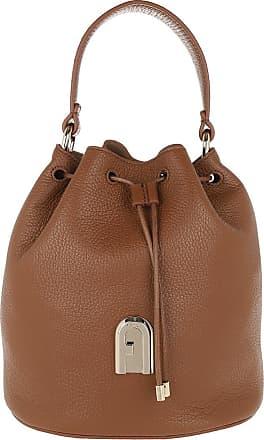 Furla Bucket Bags - Sleek Small Drawstring Cognac - brown - Bucket Bags for ladies