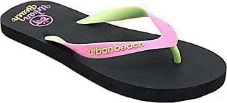 Urban Beach Ladies Womens Corp Casual Rubber Flip Flops/Sandals (UK 3 / EUR 35-36, Black)