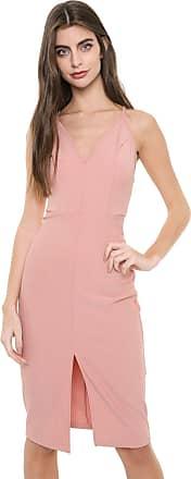 Colcci Vestido Colcci Curto Recortes Rosa