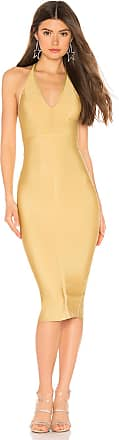 Superdown Desi Halter Bodycon Dress in Yellow