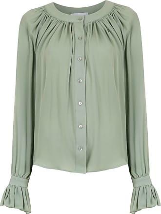 OLYMPIAH Camisa Spinello de seda - Verde