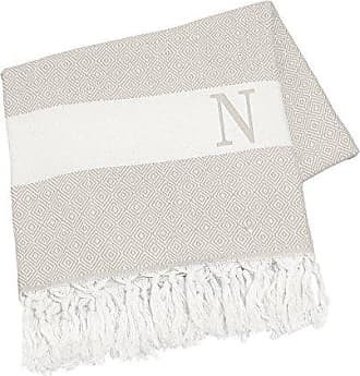 Cathy's Concepts Personalized Turkish Throw, Letter N, Beige