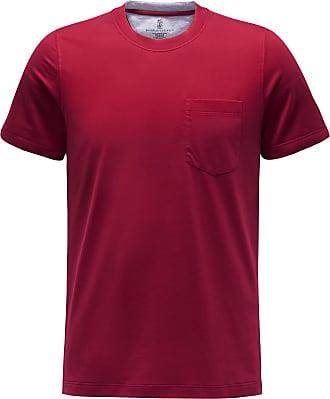 Brunello Cucinelli R-Neck T-Shirt dunkelrot bei BRAUN Hamburg