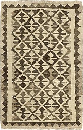 Nain Trading 153x101 Persian Kilim Fars Rug Beige/Dark Brown (Handwoven, Iran/Persia, Wool)