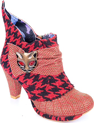 Irregular Choice Miaow Ankle Boots (6.5 UK, Red Tweed (Red Tweed BA))