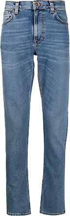 Nudie Jeans Calça jeans reta cintura média - Azul