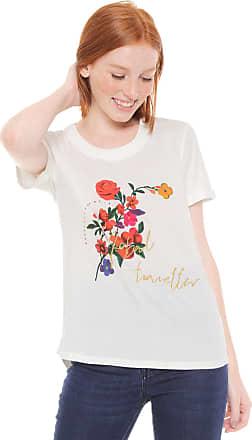 Desigual Camiseta Desigual Bordada Off-White