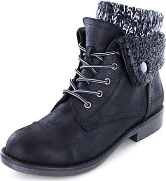 White Mountain Womens Duena Hiking Boot, Black, 8 UK
