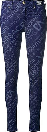 05b0dc33b Versace Jeans Couture Calça jeans skinny com logo - Azul