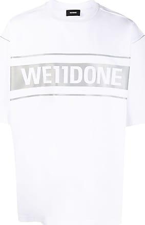 We11done Oversized-T-Shirt mit Logo - Weiß