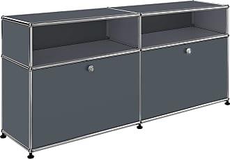 USM Sideboard mit 2 Klapptüren + 2 Fächer - anthrazitgrau RAL 7016/102x37x56,5cm