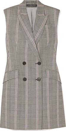 ad4ff233f18 Alexander McQueen Mini-robe En Laine Prince-de-galles - Gris