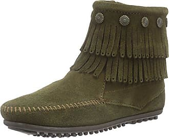 off Doublefringesidezipboot 333333333333336 Loafers 39 Femme Navy White Vert Mocassins Minnetonka YqxzvPdd