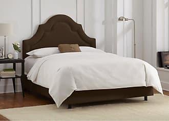 Skyline Furniture Arch Border Velvet Upholstered Bed Apple Green Velvet, Size: Queen - 882BEDVAPLGRN
