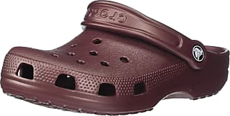Crocs Unisexs Mens and Womens Classic Sparkly Shimmer Clog Glitter Shoes, Metallic Burgundy, 8 UK