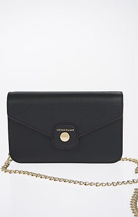 Longchamp Leather Pochette with Chain size Unica