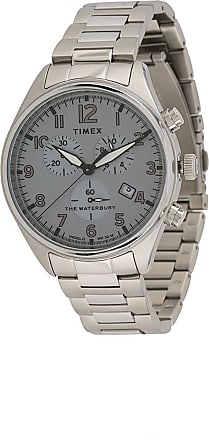 Timex Relógio cronógrafo Waterbury Traditional 42mm - Prateado